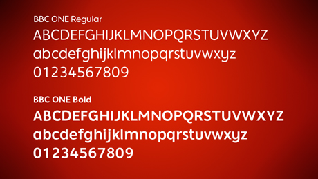new bbc one font